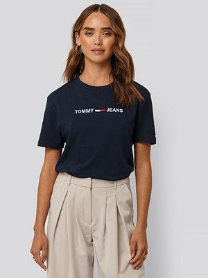 Tommy Jeans Modern Rak T-Shirt Med Logga blå