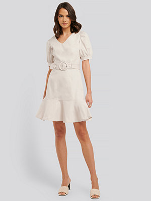 Trendyol Belt Detailed Mini Dress beige
