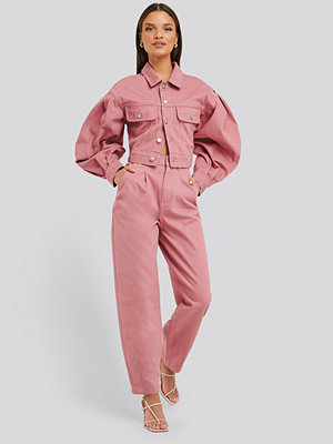 Jeans - NA-KD Trend Front Dart Slouchy Jeans rosa