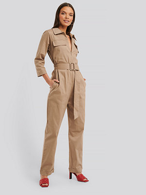 Jumpsuits & playsuits - Trendyol Jumpsuit beige