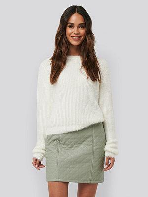 NA-KD Quilted PU Skirt grön