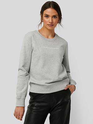 Calvin Klein Institutional Regular Crew Neck Sweater grå