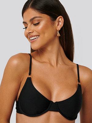 NA-KD Swimwear Ring Detail Bikini Cup Bra svart