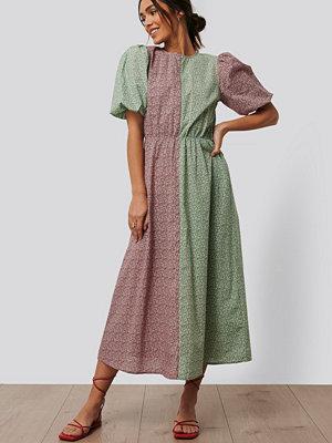 NA-KD Trend Midiklänning Med Puffärmar multicolor