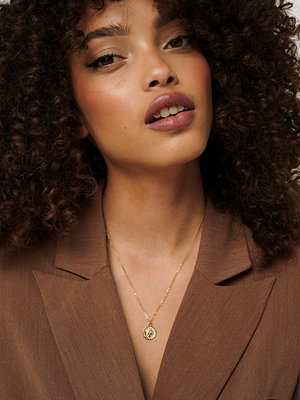 NA-KD Accessories smycke Gold Plated Pendant Necklace guld