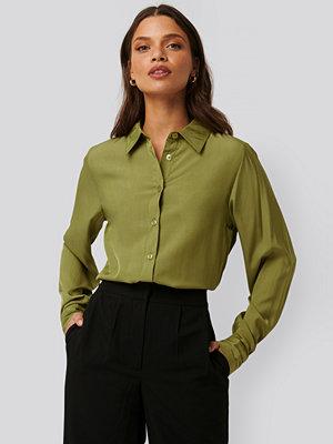 Tunikor - NA-KD Classic Skjorta grön
