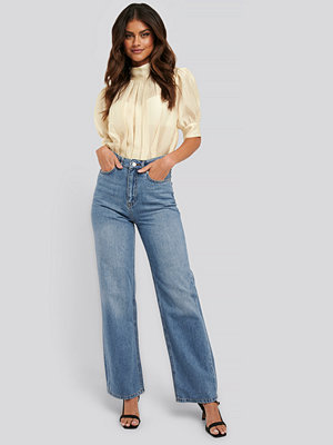 Jeans - NA-KD Trend Jeans Med Raka Ben blå