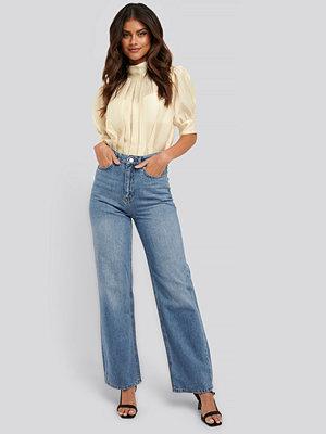 NA-KD Trend Jeans Med Raka Ben blå