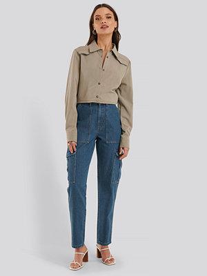 NA-KD Trend Jeans Med Medelhög Midja blå
