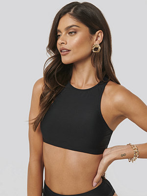 NA-KD Swimwear Tight Neck Bikini Top svart