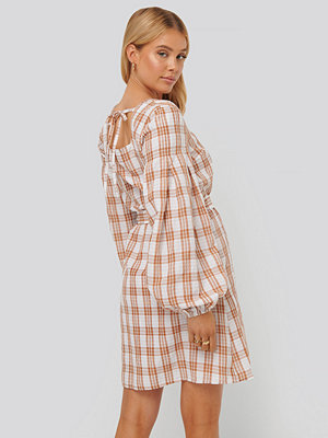 NA-KD Boho Structured Check Dress multicolor