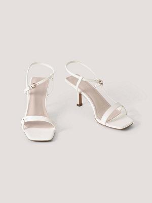 NA-KD Shoes Högklackade Med Fyrkantig Tå Och Flera Spännen vit