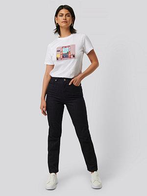 Jeans - NA-KD Rak Denim blå