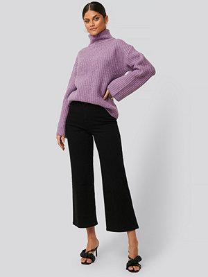 Jeans - NA-KD Culottejeans svart