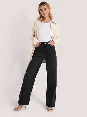 Jeans - Trendyol Jeans Med Hög Midja Och Vida Ben svart