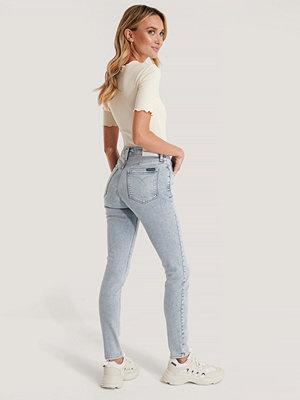 Jeans - Calvin Klein Skinny Jeans Med Hög Midja blå