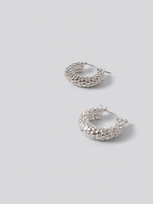 NA-KD Accessories smycke Bubble Hoop Earrings silver