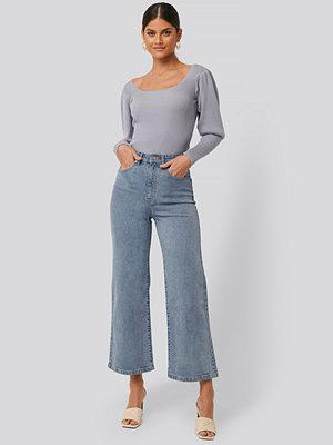Jeans - NA-KD Culottejeans blå