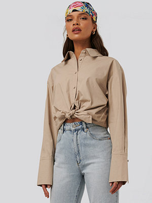 NA-KD Trend Bomullsskjorta beige