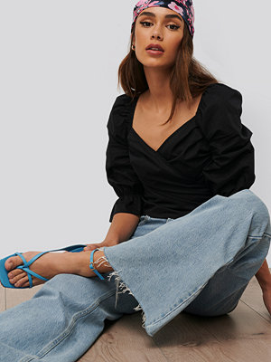 NA-KD Trend Blus Med Puffärm svart