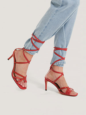 NA-KD Shoes Ankle Strap Stiletto heels röd