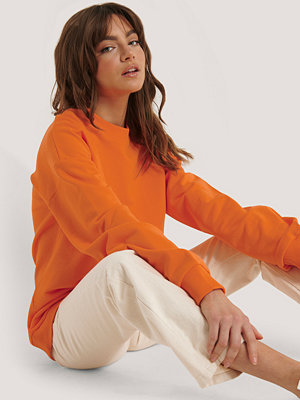 NA-KD Basic Oversized Crewneck Sweatshirt orange