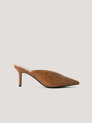 NA-KD Shoes Mules brun