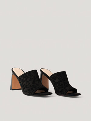 NA-KD Shoes Block Heeled Mules svart