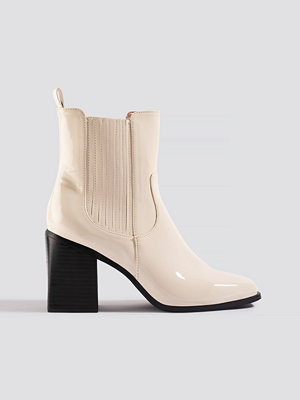 NA-KD Shoes Western Chelsea Boots vit