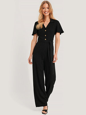 Trendyol Carmen Binding Detailed Jumpsuit svart