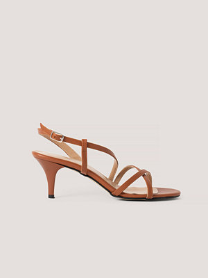 Trendyol Classic Heel Strap Sandals brun