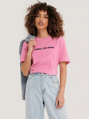 Tommy Jeans Modern Rak T-Shirt Med Logga rosa