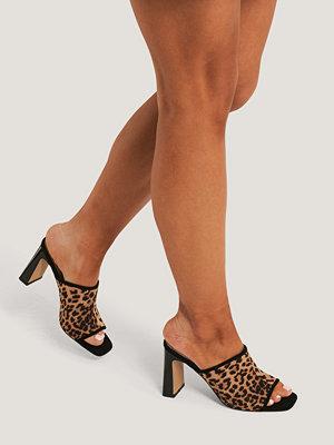 NA-KD Shoes Block Heeled Mules brun