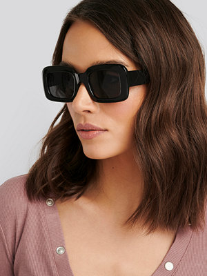 NA-KD Accessories Big Retro Square Sunglasses svart