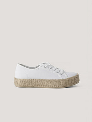 NA-KD Shoes Jute Sole Trainers vit