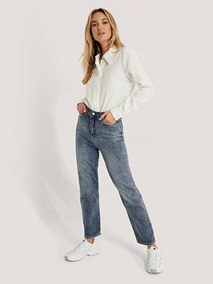 Trendyol Jeans Med Hög Midja blå
