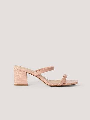 NA-KD Shoes Sandaler rosa