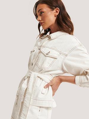 Jeansjackor - NA-KD Trend Denimjacka offvit