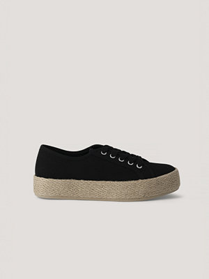NA-KD Shoes Jute Sole Trainers svart