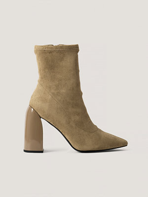 NA-KD Shoes Strumpboots beige