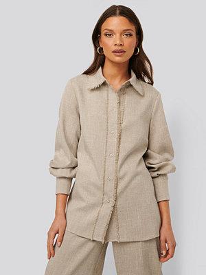 NA-KD Classic Skjorta Med Detaljer beige