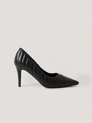 NA-KD Shoes Quilted Pointy Pumps svart