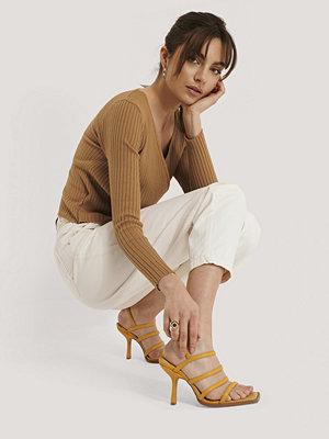 NA-KD Shoes Sandaler gul