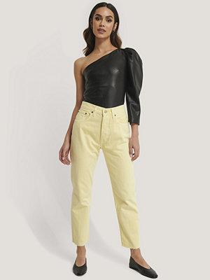 Mango Jeans Med Rak Passform gul