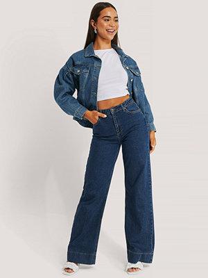 Trendyol Jeans Med Hög Midja Och Vida Ben blå