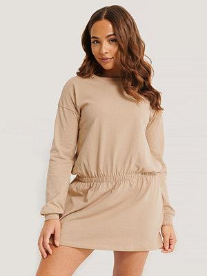 NA-KD Jersey Skirt Dress beige