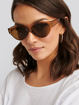 NA-KD Accessories Drop Shaped Cateye Sunglasses brun