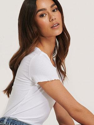 Trendyol Ribbad T-Shirt vit