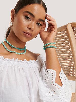 NA-KD Accessories smycke Turkost Dubbelt Kort Halsband turkos