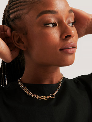NA-KD Accessories smycke Two Row Chain Necklace guld